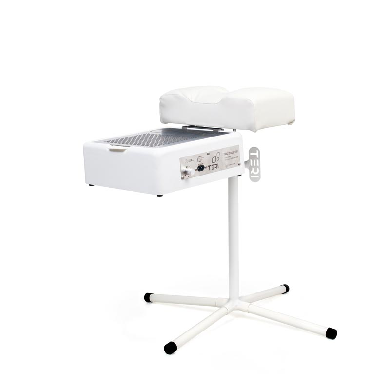 White pedicure stand with dust collector