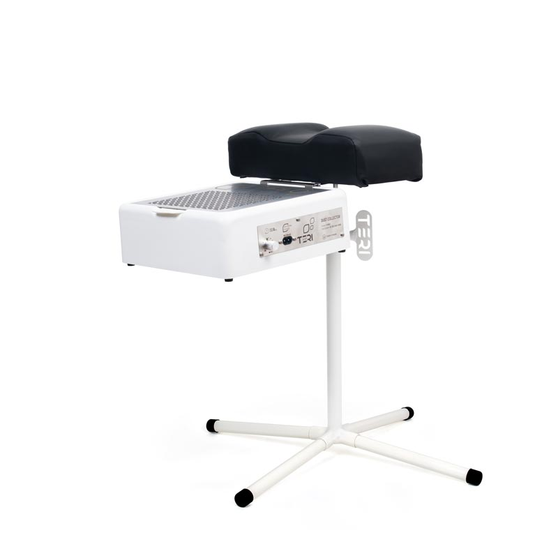 Black pedicure stand with dust collector
