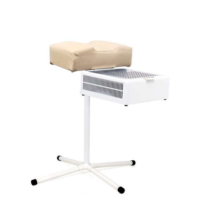 Beige pedicure stand with dust collector