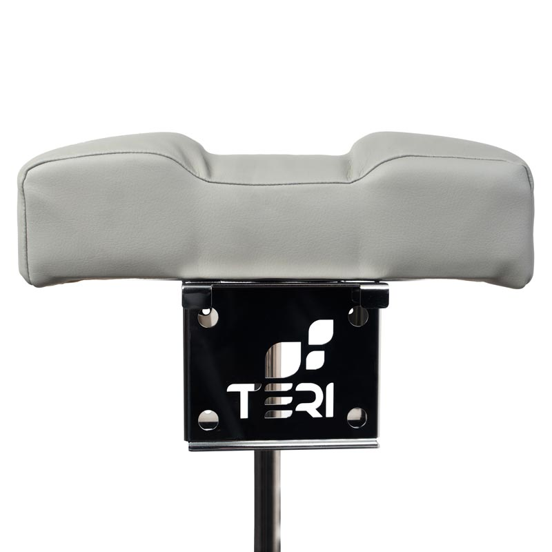 Mount of pedicure stand with grey pillow