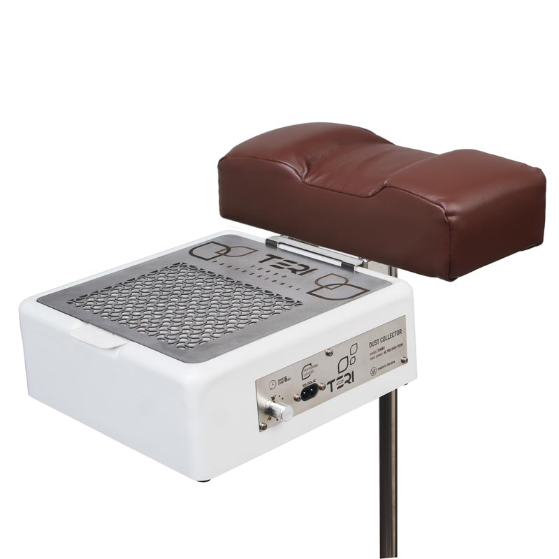Footrest stand for pedicure with brown cushion