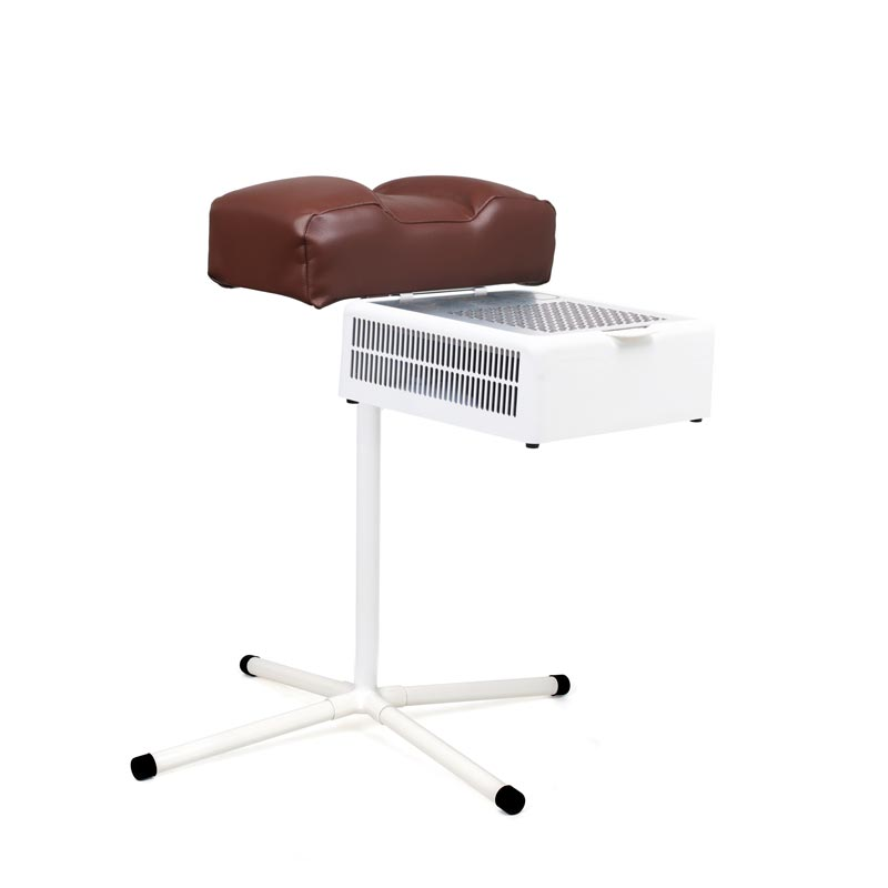 Pedicure footrest stand with brown cushion with dust collector Teri