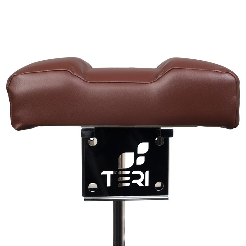 Mount for pedicure stand with brown cushion