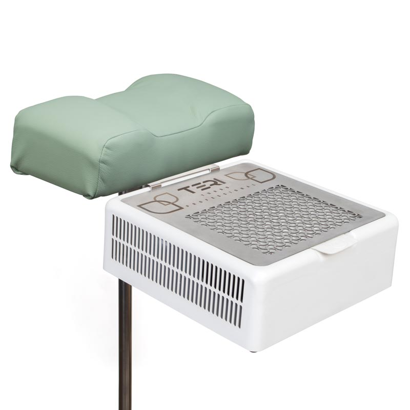 Pedicure footrest stand with cushion with dust collector Teri