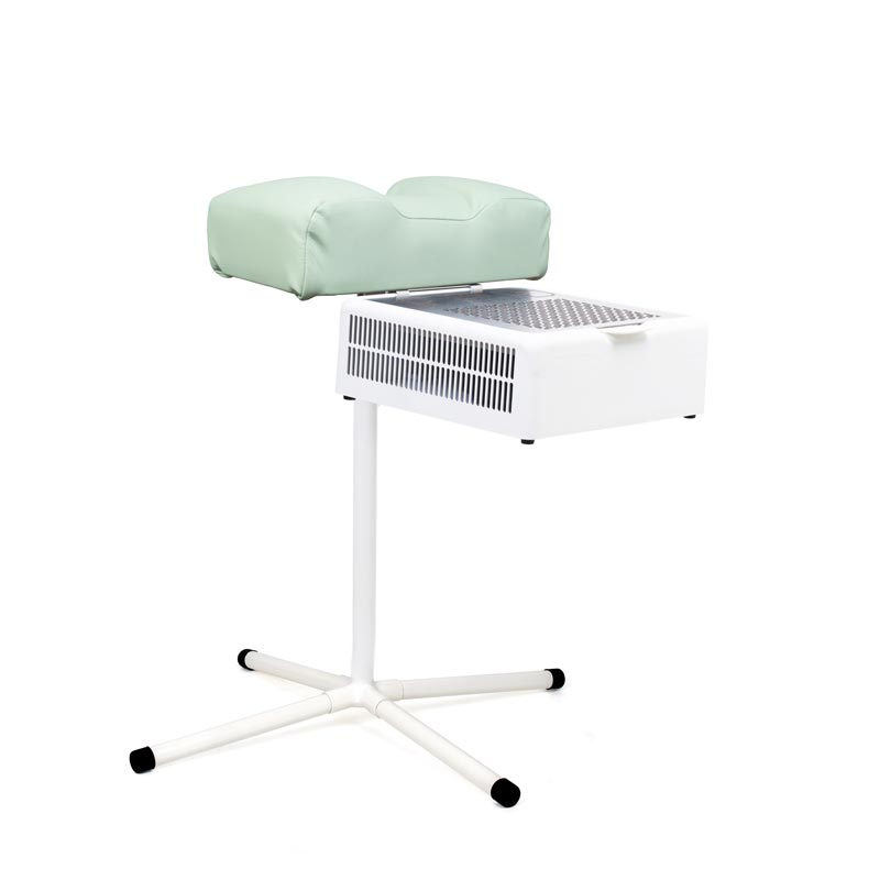 Pedicure footrest stand with mint cushion with dust collector Teri