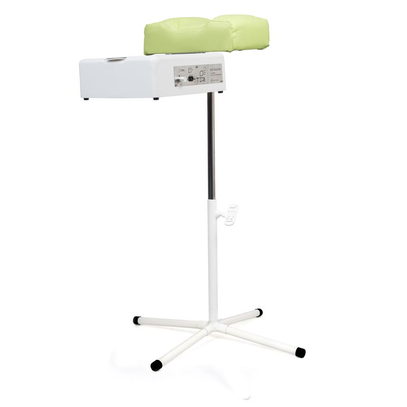 Pedicure footrest stand with pistachio cushion with dust collector Teri