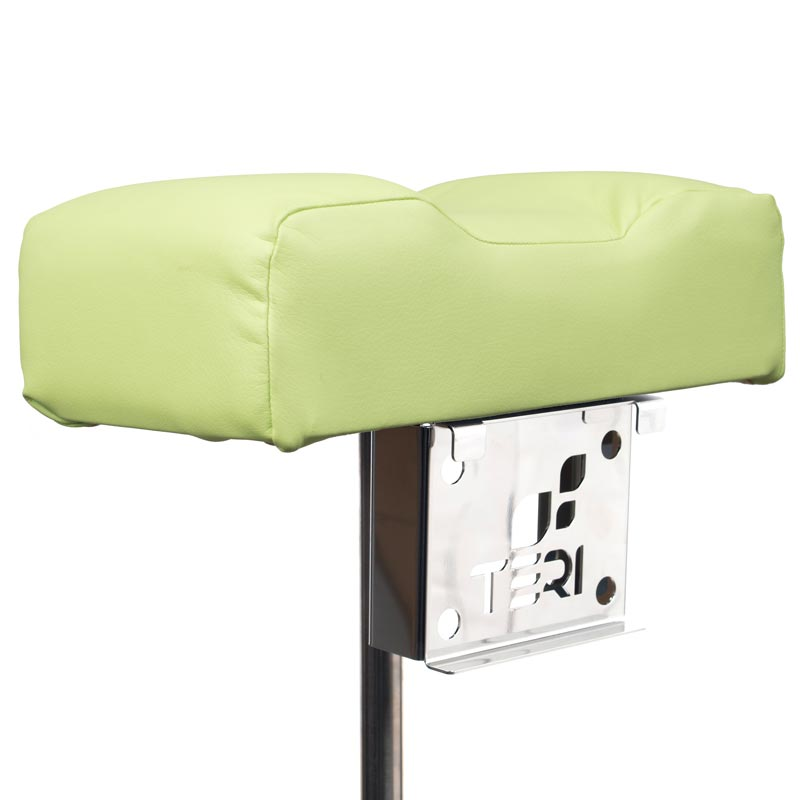 Mount for pedicure stand with pistachio pillow